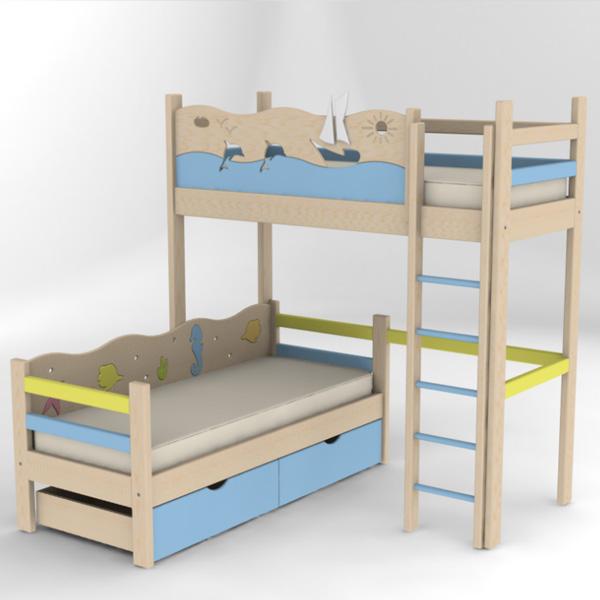 Кровати двухъярусные детские